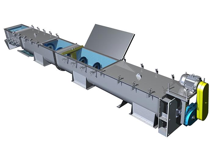 Screw Conveyor Shafted Screw Conveyor Producer Trough
